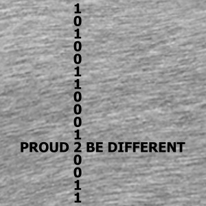 Proud 2 be different matrix 1 0 data numbers T-Shirts - Men's Premium T-Shirt