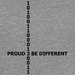 Proud 2 be different matrix 1 0 data numbers T-Shirts - Women's Premium T-Shirt
