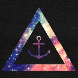 Galaxy / universe / hipster triangle with anchor Felpe - Felpa con scollo a barca da donna, marca Bella