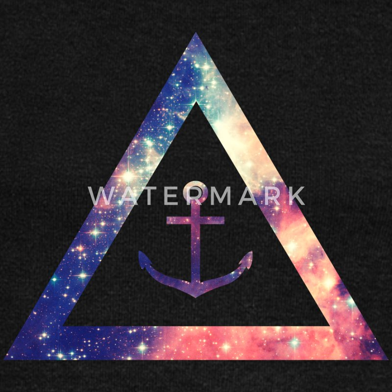 Galaxy / universe / hipster triangle with anchor ...