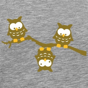 Branch Owl Funny crazy upside down owl T-Shirts - Men's Premium T-Shirt