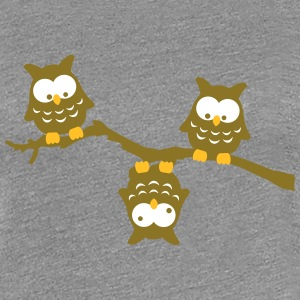 Branch Owl Funny crazy upside down owl T-Shirts - Women's Premium T-Shirt