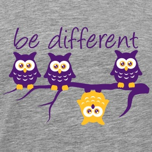 Anderst Be Different 4 Eulen verschieden T-Shirts - Männer Premium T-Shirt