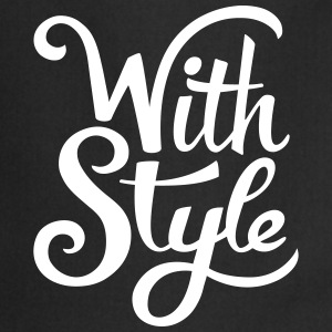 With Style! Cool & Trendy Typography Design  Forklæder - Forklæde
