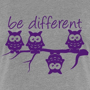 Anderst Be Different 4 Eulen verschieden T-Shirts - Frauen Premium T-Shirt