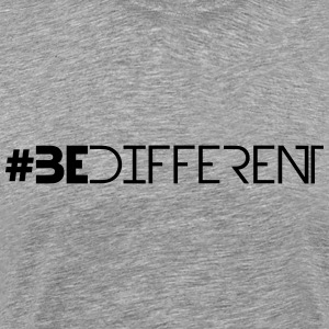 Hashtag Be Different Logo T-Shirts - Men's Premium T-Shirt