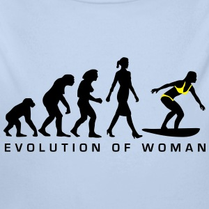 evolution_of_woman_surfing_092014_a_2c Pullover & Hoodies - Baby Bio-Langarm-Body