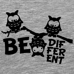 Uil Grappige Uil Tak gek Be Different T-shirts - Mannen Premium T-shirt