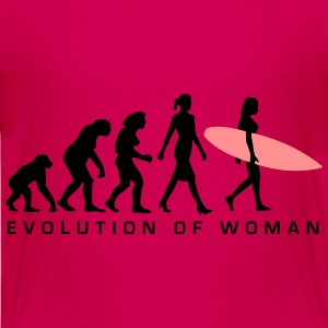 evolution_of_woman_surfing_092014_c_2c T-Shirts - Kinder Premium T-Shirt