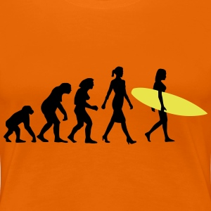 evolution_of_woman_surfing_092014_d_2c T-Shirts - Frauen Premium T-Shirt