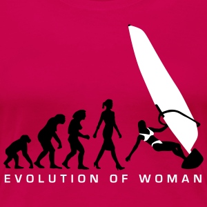 evolution_of_woman_windsurfing_092014_a_ T-Shirts - Frauen Premium T-Shirt