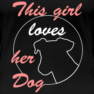 Girl Loves Dog T-Shirts - Frauen Premium T-Shirt