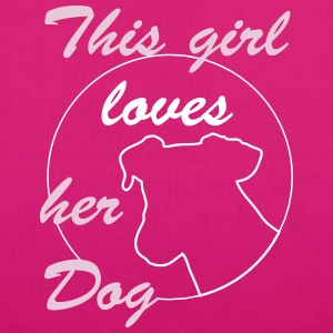 Girl Loves Dog Bags & Backpacks - EarthPositive Tote Bag