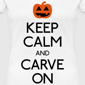 keep calm pumpkin T-Shirts - Women's Premium T-Shirt