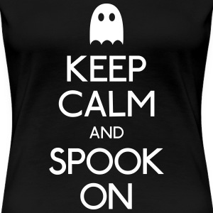 keep calm spook holde ro spook T-skjorter - Premium T-skjorte for kvinner