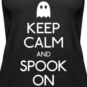 keep calm spook holde ro spook Topper - Premium singlet for kvinner