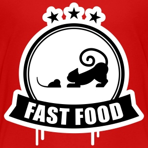 Fast food, kat met muis premie Shirts - Teenager Premium T-shirt