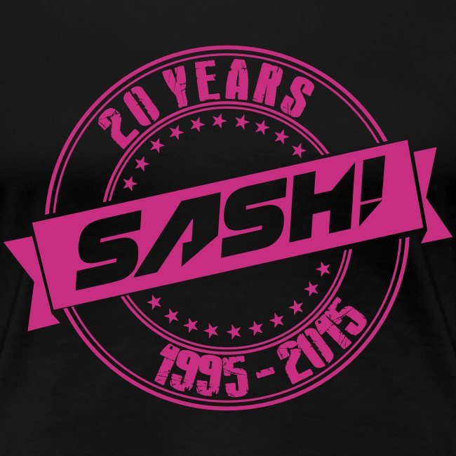 Woman Premium T-Shirt SASH! 20 Years