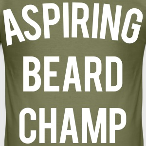 Aspiring beard champ - Mens - Men's Slim Fit T-Shirt