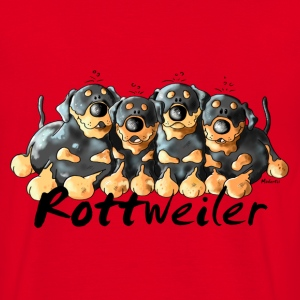 Four Funny Rottweiler - Dog - Dogs T-Shirts - Men's T-Shirt