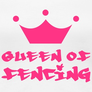 Queen of fencing T-shirts - Premium-T-shirt dam
