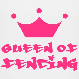 Queen of fencing T-shirts - Premium-T-shirt tonåring
