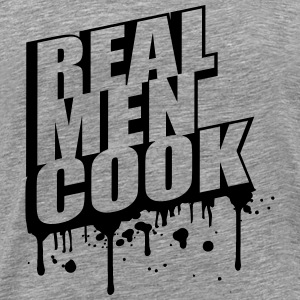 Cool Real Men Cook Graffiti Logo T-Shirts - Men's Premium T-Shirt