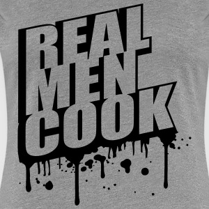 Cool Real Men Cook Graffiti Logo T-Shirts - Women's Premium T-Shirt