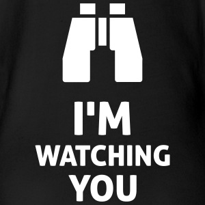 I'm Watching You T-shirts - Ekologisk kortärmad babybody