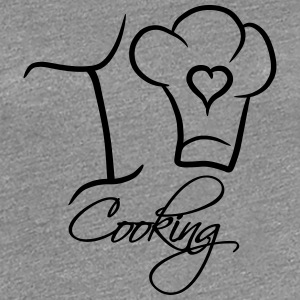 I Love Cooking Text Logo T-Shirts - Frauen Premium T-Shirt