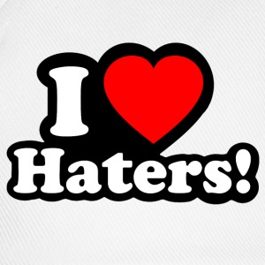I LOVE Haters - Baseballkappe