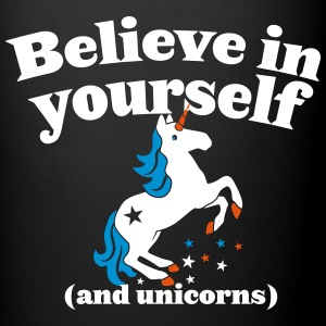Believe in yourself (and UNICORNS) plain Bottles & Mugs - Full Colour Mug