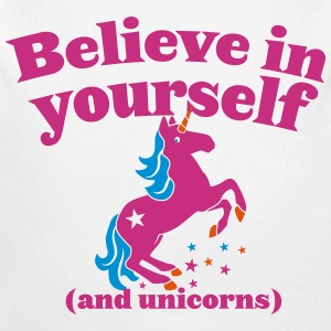 Believe in yourself (and UNICORNS) plain Hoodies - Longlseeve Baby Bodysuit