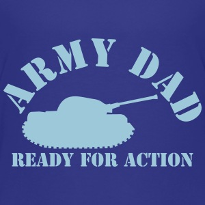 ARMY DAD (with tank) ready for ACTION! Shirts - Teenage Premium T-Shirt