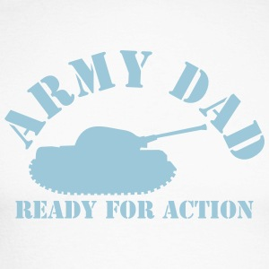 ARMY DAD (with tank) ready for ACTION! Long sleeve shirts - Men's Long Sleeve Baseball T-Shirt