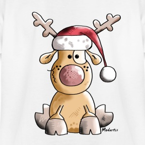 Funny Christmas Reindeer Cartoon Shirts - Teenage T-shirt