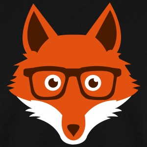 Sweet Funny hipster fox with nerd glasses Felpe - Felpa da uomo