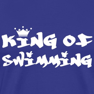 King of Swimming T-shirts - Herre premium T-shirt