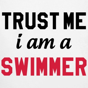 Trust me i am a Swimmer Hoodies - Longlseeve Baby Bodysuit