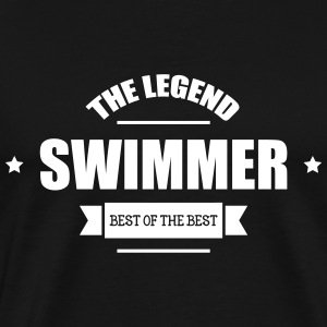 Swimmer The Legend T-shirts - Mannen Premium T-shirt