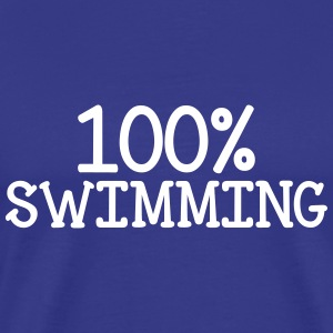 100% Swimming T-shirts - Herre premium T-shirt