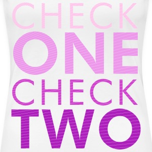 Check one Check two - Women's Premium T-Shirt