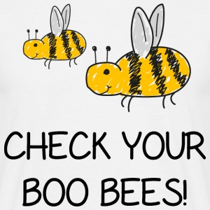 check your boo bees - Men's T-Shirt