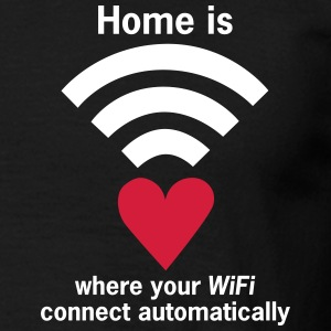 HERZ WiFi-Zone - WLAN-Zone Home is where your WiFi - Männer T-Shirt