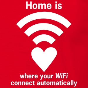 WiFi-Zone - WLAN-Zone Home is where your WiFi - Männer T-Shirt