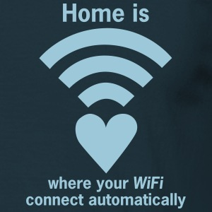 WiFi-Zone - WLAN-Zone | Home is where your WLAN... - Männer T-Shirt