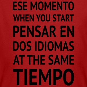 Speaking spanglish while learning spanish - Men's Organic T-shirt