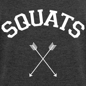Squats Arrows T-Shirts - Women's T-shirt with rolled up sleeves