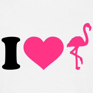 I love Flamingo T-Shirts - Männer T-Shirt