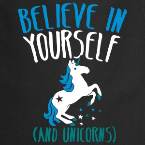 BELIEVE in yourself (AND UNICORNS) rough   Aprons - Cooking Apron